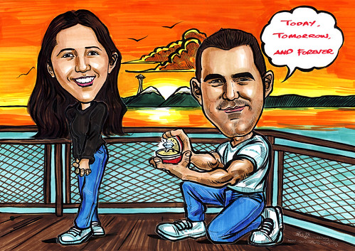 Couple caricatures proposal A4