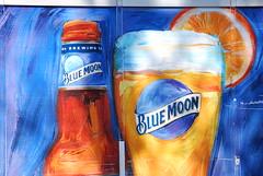 Blue Moon beer (John Rothwell) Tags: truck ad grand semi rapids advertisement grandrapids decal bluemoon michgan