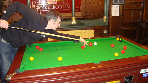 Pool player at a Pub in Lee, London