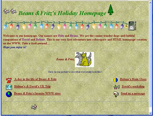 First website 1996 Home page