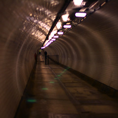 Disco tunnel (Che-burashka) Tags: london tunnels tgif woolwich greenlights underthethames