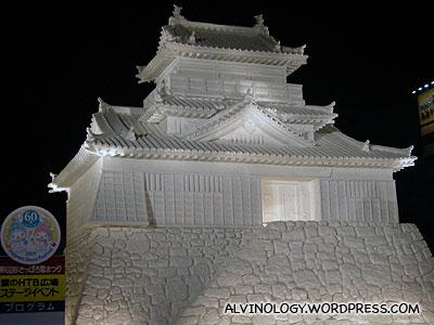 Grand-looking snow shrine