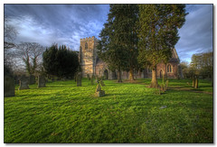 St Cuthbert's Church, Great Glen, Leicestershire. (Lord Muttley McFester) Tags: church digital nikon wideangle f28 hdr visualart noiseware 14mm 3xp photomatix greatglen d700 flickrsheaven topazadjust 14mmprime