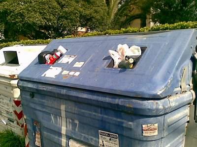 waste skip near Rome