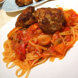 Swedish Meatballs with Linguine