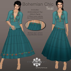 Total Betty *Bohemian Chic* Teal (Betty Bee) Tags: totalbetty rflinsl clothingfair09