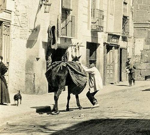 Puerta de Bisagra y Alrededores hacia 1890. Fotografía de viajero inglés anónimo (detalle). Casa de los Tiros (Granada)