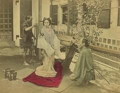 Japanese prostitute (noel43) Tags: japan japanese district prostitution redlight prostitutes pleasure meiji brothel geta yoshiwara kago oiran tayuu kamuro