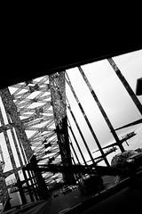 drop by drop (/pol) Tags: bridge bw cars glass car rain sydney ponte harbourbridge vetro automobili machina tergicristallo