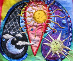 celestial paisley WIP (cymberrain) Tags: pink blue red orange sun moon color green art sol yellow clouds lune stars rouge soleil beads colorful purple needlework felting embroidery sewing workinprogress hippy tapis wip funky needlefelting nuage paisley applique couture embellished etoile couleur handstitched dyed celestial celeste creations wallhanging handdyed fiberarts broderie saturatedcolor artsplastiques fancywork brightcolored paintingonfabric couleursvives fancyneedlework loisirscreatifs celestialpaisleys stitchbyhand teintureartisinale
