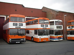 Three Ages of GMT Standard Double Decker (Mancunian1001) Tags: bolton dennis leigh leyland gmt metrobus mcw princessstreet dominator greatermanchestertransport atlantean eastlancashire northerncounties dennisdominator stagecoachmanchester