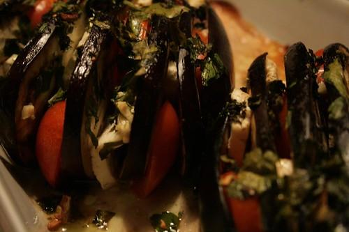 Festive aubergines