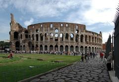 Rome, The Flavian Amphitheatre (Coliseum).