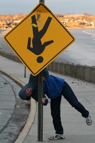 Upside down sign