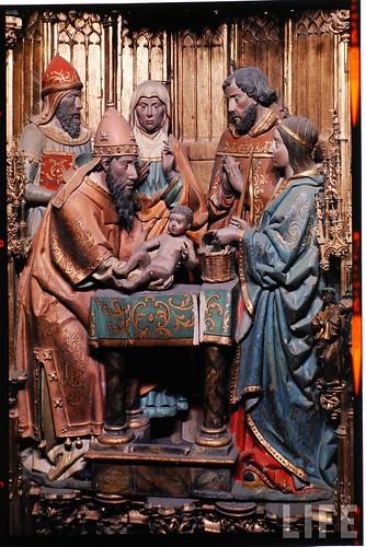 Detalle del altar mayor de la Catedral de Toledo en 1963. Fotografía de Dmitri Kessel. Revista Life (11)