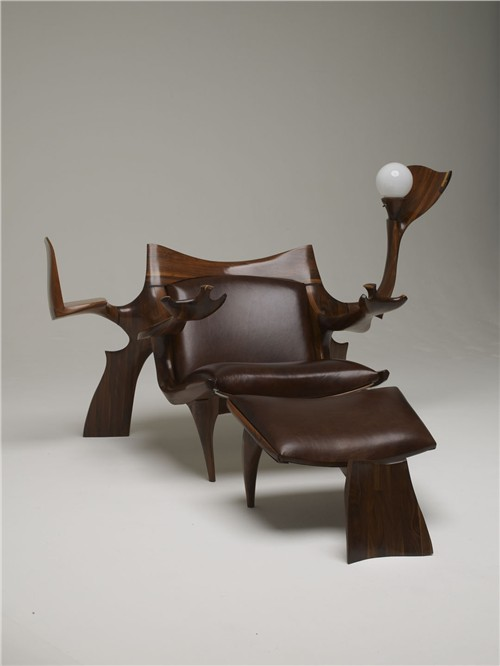 Lounge Chair and Ottoman with street lamp, Jack Rogers Hopkins