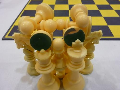 Kunstwerk 16 schaakstukken