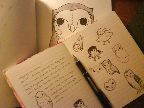 owl drawings