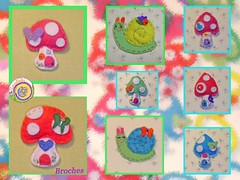 Para nios... y no tan nios... (anabelu) Tags: mushroom pin broche pregadeira brooch snail craft felt infantil seta caracol artesania complemento fieltro accesorio anabelu anabelucraft