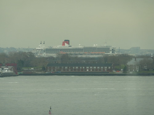 Queen Mary 2 in Brooklyn as seen from Ritz Carlton Battery Park