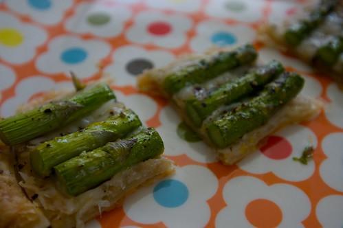 asparagus tart train