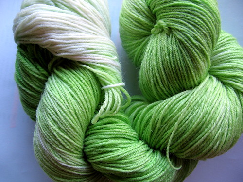 lime kool aid sock yarn