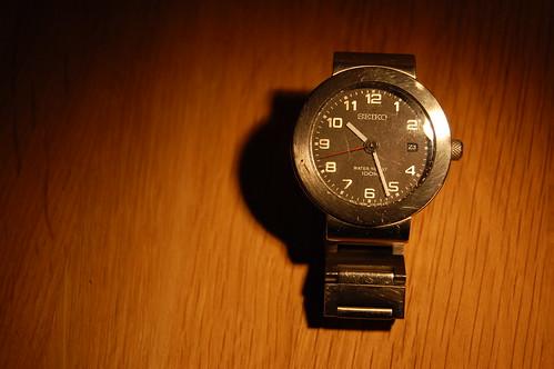 En klocka. Den här är min.