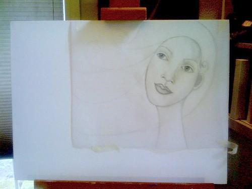sneak peek of Inspired. class painting sign...in progress