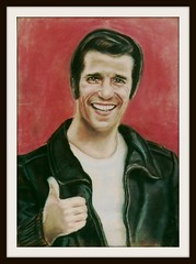 Henry Winkler - Pastel Drawing by snc145 - Scan From A Photo (snc145) Tags: men art classic pencil actors tv faces pastel drawings scorpio posters fonzie 1976 happydays henrywinkler the70s entertainers metv thefonze flickraward artgalleryandmuseums memorycornerportraits flickrunitedaward stevenchateauneuf filmsandshows