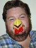 Happy Halloween (PJSherris) Tags: cinema ny newyork halloween nose happy gene centre huntington arts olympus laugh rooster cinemaartscentre olympusc4040z c4040z
