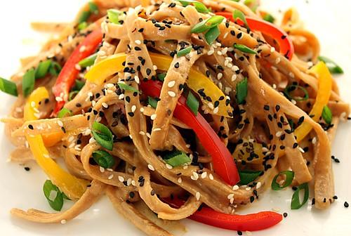 barefoot contessa noodles, ina garten noodles, szechuan noodles