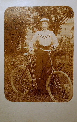 Lady with a bicycle