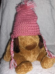 Girls hat (ruali) Tags: bear pink brown girl hat soft pretty girly crochet yarn friendly eco ruali