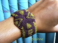 Espiral Macrame Detalle (pacificdaphne) Tags: handmade hilo espiral macrame pulsera makrame artesania hechoamano macramé encerado