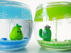 Neighbours saying hello. (Jen44) Tags: blue cactus plant cute green home glass fruit happy japanese candle clear kawaii pear jar transparent decor gel gelcandle decole decolello