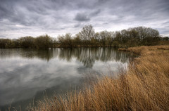 England: Northamptonshire - Lake Edge (Tim Blessed) Tags: uk sky nature water clouds ilovenature landscapes countryside scenery lakes ponds soe potofgold singlerawtonemapped