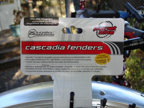 cascadia fenders