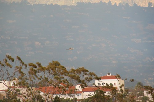 Helicopter over Santa Barbara