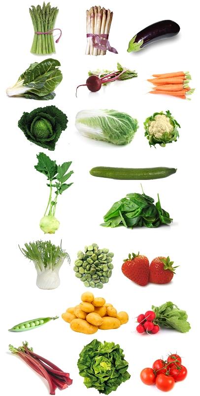 fruits et légumes du mois de mai
