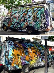 Horf - Risot - Deks (Chrixcel) Tags: paris truck graffiti tag camion 1984 van deks horf risot horphe