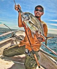 Din Idola with Bebi GT (DELLipo) Tags: portrait fish photoshop canon boat fishing ixus dell gt lumut perak angler pulausembilan hdellr dellipo dinidola
