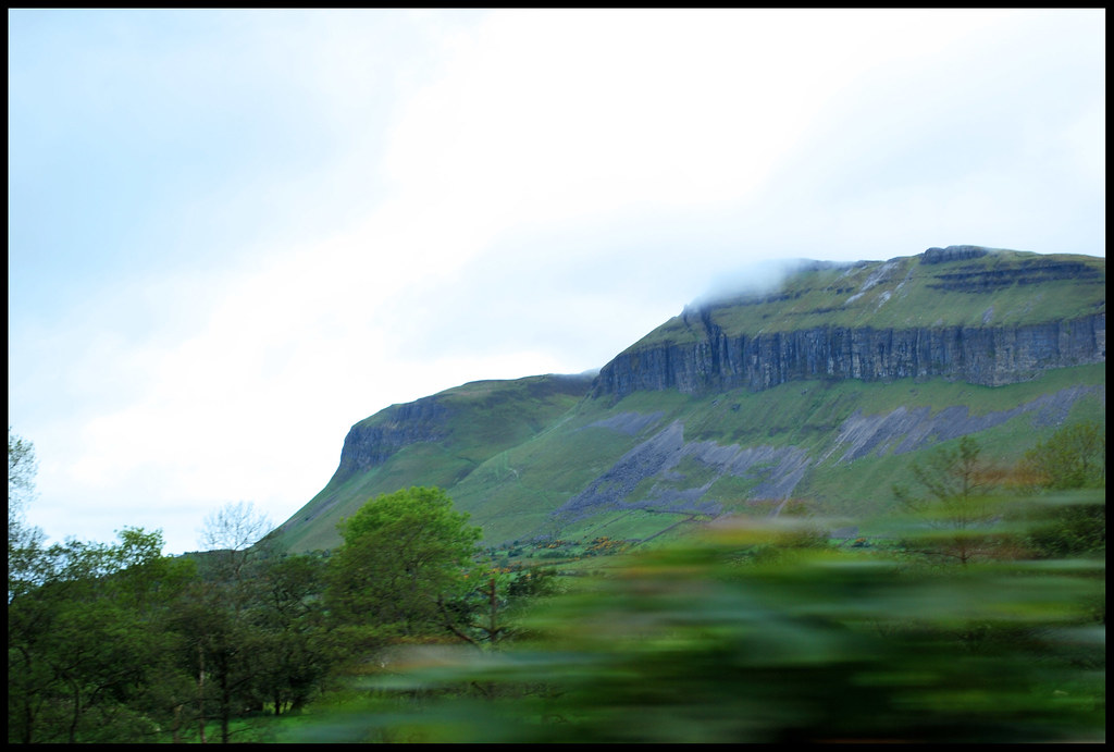 Benbulben from the passenger window