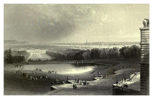 022- Viena vista desde la glorieta en Shönbrunn 1844