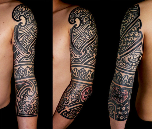 JAPANESE TRIBAL by Gotch @ Harizanmai tattoo Studio From Gotch @ Harizanmai.