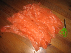 Knitting project #12 - Conventional knitting with carrier bags