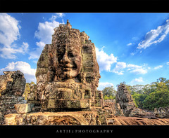 Angkor Thom, Bayon Temple, Siem Reap, Cambodia :: HDR (:: Artie | Photography ::) Tags: classic face architecture photoshop canon cambodia khmer faces cs2 stones buddhist wideangle handheld historical 1020mm siemreap angkor hdr bayon angkorthom artie mythological 3xp sigmalens photomatix jayavarman bayontemple prasat tonemapping tonemap 400d rebelxti