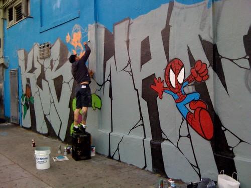 Nerdifying the mural at MishMish & 19th