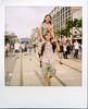 .. (Jösé) Tags: street summer toronto festival polaroid sx70 couple weekend candid smiles collegestreet 600 pedestrians epson sonar polarizer carry onestep tasteoflittleitaly v700