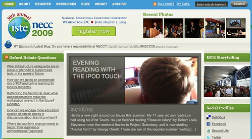 Alexander on the homepage of ISTEconnects