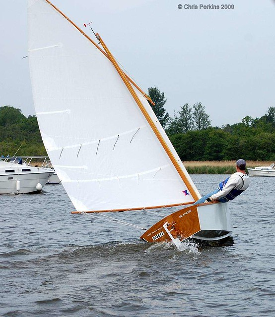 Mark Sailing His Goat Island Skiff at Barton Week